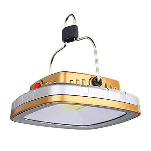 LQCN LED Rechargeable Lanterne Solaire, Portable pelouse, lumière USB Tente étanche, 3.7V 2200mAh Power Bank en Cas d'urgence, Une Panne de Courant, la pêche et Plus