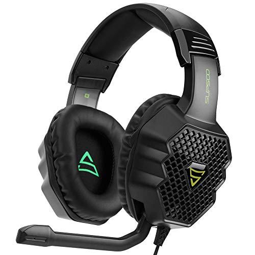WHSS Stereo Gaming Headset For For PS4, PC, Controlador De Xbox One, Ruido De Los Auriculares del Oído Que Cancela sobre con Micrófono, Bajo Envolvente, Headset Auriculares For Juegos