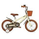 Bicicletas niños bicicletas de 14 pulgadas de niños, de acero niños Alto contenido de carbono de bicicletas con ruedas de entrenamiento, apto for niños y niñas de 3-5 Años de Edad de bicicletas (Color