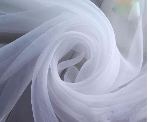 120' Wide (10ft Wide) x 120 Yards Roll - White Sheer Voile Chiffon Fabric - Sedona DESIGNZ Brand Perfect for Draping Panels and Masking for Weddings & Events (White)