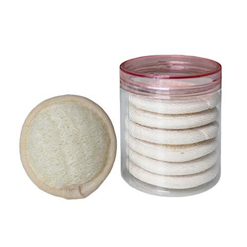 SUPVOX Tampons Démaquillants Chiffons Démaquillants Réutilisables Éponge Luffa Tampons de Nettoyage de Maquillage pour Les Yeux Du Visage (10Pcs)