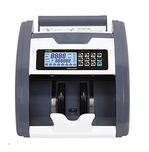 KROSS Notes/Currency Counting Machine with Fake Note Detector & LCD Display-1 Year Warranty (Compatible with All Denominations of New & Old Indian Currencies)