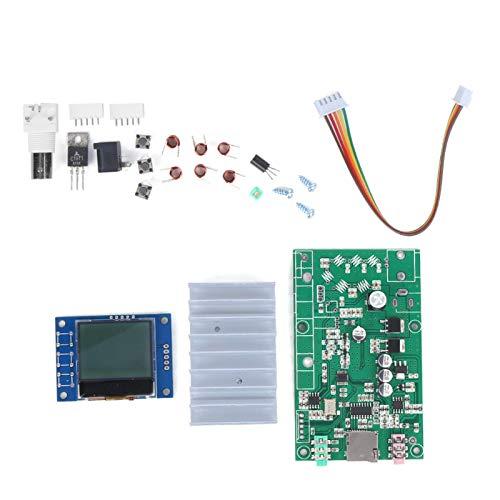 SALUTUYA Transmisor FM estéreo PLL de 7 W, Kits de módulo de estación de Radio de 1 Pieza con LCD 76M-108MHz con Pantalla LCD