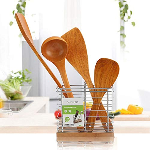 Non-Stick Cooking Tools Long Hand Wok Frying Pan Tools Accessories Spatula Turners Shovel Wooden Supplies(D)