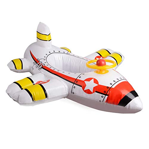 Jaromepower Baby Aircraft Motorboat with Steering Wheel Floating Ride-On Seat Boat Swimming