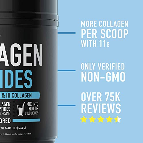 『Sports Research Premium Collagen Peptides 16oz; Promoting Healthy Skin, Hair, and Joints; Unflavored, Odorless and Easy to Mix; Contains Hydrolyzed Collagen Gelatin Powder 海外直送』の4枚目の画像