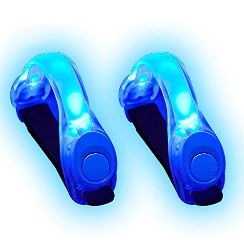 Alviller LED Armbänder, Reflective 4 Stuck LED Armband für Laufen und Joggen (2 Blau)