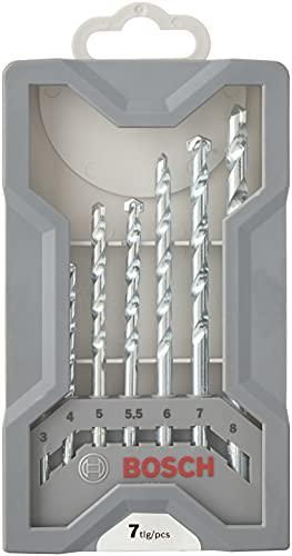Bosch Professional 2607017035 7-Piece CYL-1 Masonry Drill bit Set, Silver