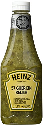 Heinz 57 Gherkin Relish Sauce Squeeze, 875 ml