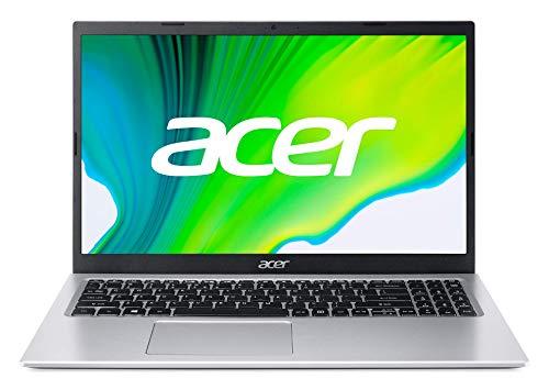 Acer Aspire 1 - Portátil 15.6' HD (Intel Celeron N4500, 4GB RAM, 64GB eMMC, UMA Graphics, Windows 10 Home in S Mode), Color Plata - Teclado QWERTY Español