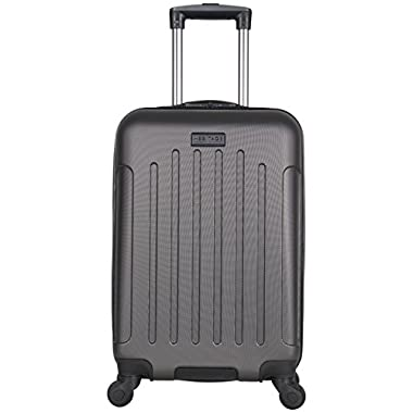 Heritage Travelware Lincoln Park 20  Abs 4-Wheel Carry on Luggage, Charcoal