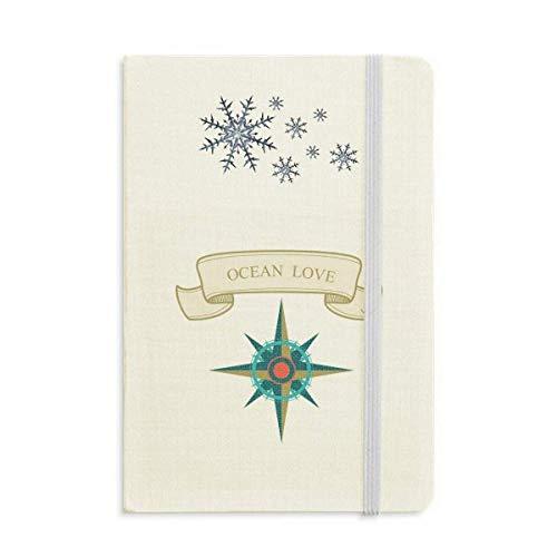 Ocean Love Sea Seailing Kompass Muster Notizbuch Dickes Tagebuch Schneeflocken Winter