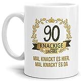 Tassendruck Geburtstags-Tasse Knackige 90' Geburtstags-Geschenk Zum 90....