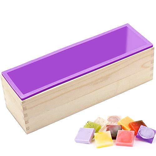 moule en silicone savon,moule en silicone rectangle,moule en silicone avec boîte en bois,moulessilicone cake,diy moule savon,moulle savon handmade
