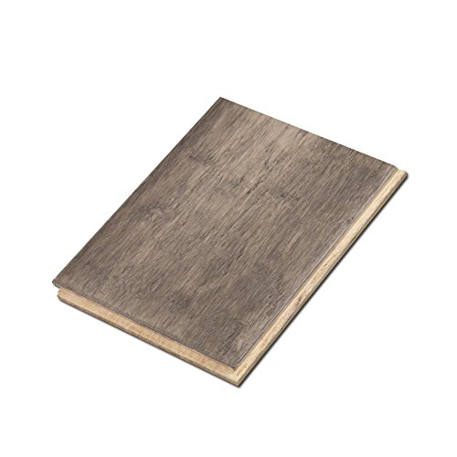 "Cali Bamboo - Solid T&G Wide Bamboo Flooring, Boardwalk Gray, Hand Scraped - Sample Size 8"" L x 5 3/8"" W x 9/16"" H"