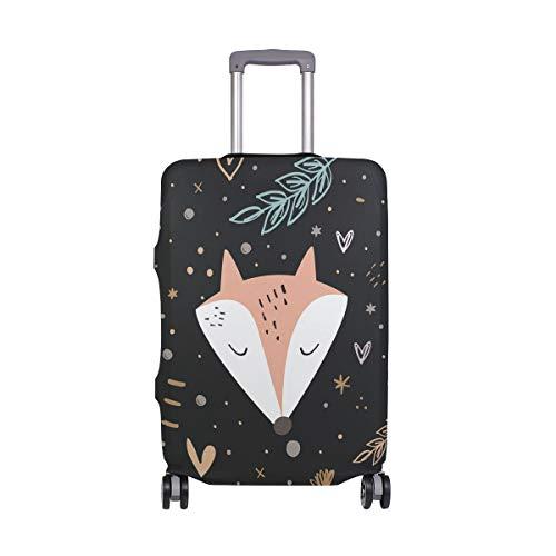Orediy - Funda para Maleta de Viaje con diseño Floral de Zorro (sin maletín), Talla S, M, L, XL, Multicolor (Multicolor) - suitcasecover