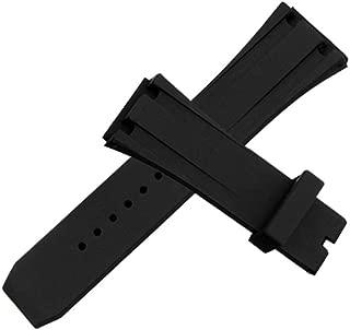 26mm AP Black Silicone Rubber Watch Band Strap Deployment Clasp for AP Audemars Piguet Royal Oak Offshore