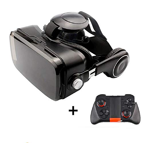 Best Deals! Virtual Reality VR Glasses Headset with Controller for 4.3-6.0 Inch Smartphone Lightweig...