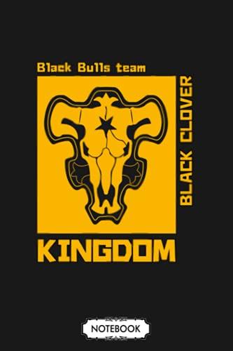 Black Bulls Black Clover Notebook: Planner, 6x9 120 Pages,...