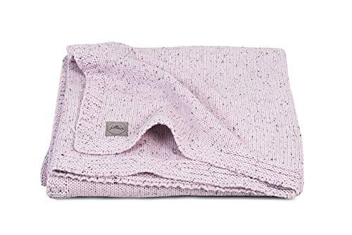 Jollein Confetti Knit Vintage Pink - Manta de punto para bebés y niños (75 x 100 cm), color rosa