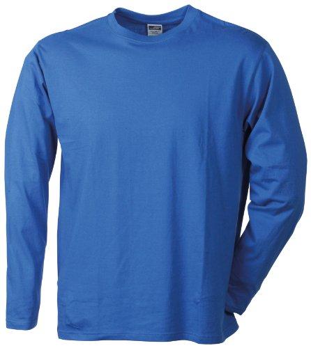 JAMES & NICHOLSON Langarmshirt Medium T-Shirt, Bleu (Royal), (Taille Fabricant: X-Large) Homme