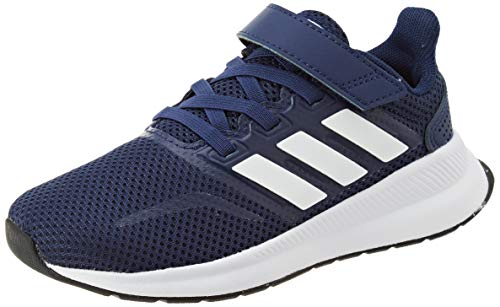 adidas Runfalcon C, Zapatillas para Correr Unisex Niños, Azul Oscuro Blanco Blanco Negro Núcleo, 31 EU