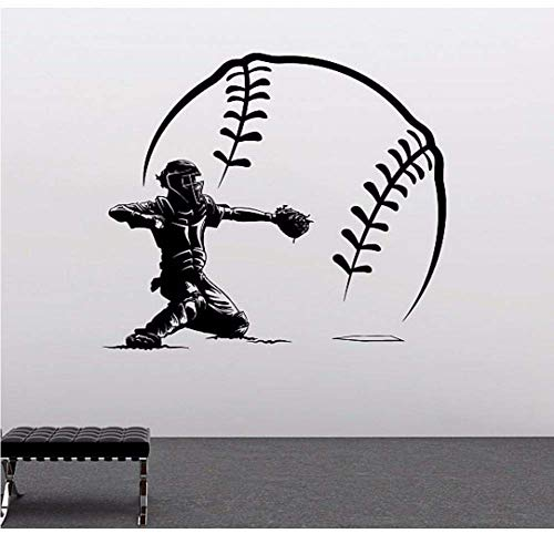 Baseball-Spieler Und Große Baseball-Shorts Vinyl Wand Lsticker Home Schlafzimmer Art Design Sports Series Wallpaper-102 * 102.Cm.