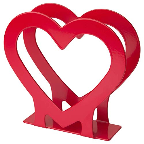 Ikea VINTER Heart Shaped Red Napkin Holder Steel