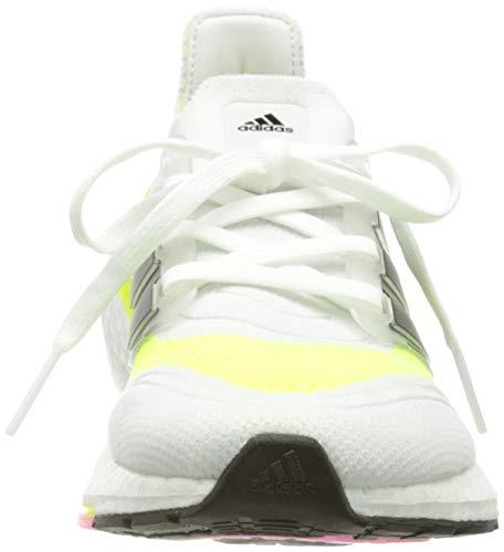 adidas Ultraboost 21 W, Zapatillas para Correr Mujer, FTWR White/Core Black/Solar Yellow, 37 1/3 EU