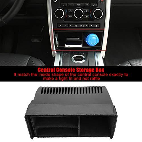 Fsskgx Consola Central del Coche Caja de Almacenamiento Organizador Bandeja de teléfono Accesorio Compatible para Land Rover Discovery Sport 2015-2018, con Espuma Antideslizante, Negro