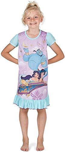 Disney Princess Girls' Nighties with Lion King, Aladdin, Cinderella, Paw Patrol, Little Mermaid   Official Product Kids Princesses Nightdress, Nightwear, Clothing (3-4 Years, Aladdin)