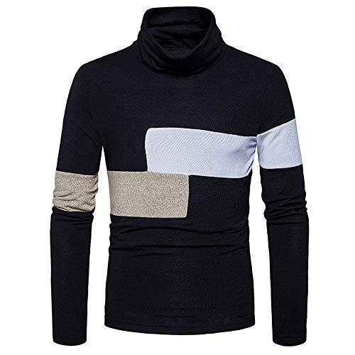 ZYUD Herren Rollkragenpullover Pullover Rollkragen Hoodie Sweatshirt Shirt Herren...