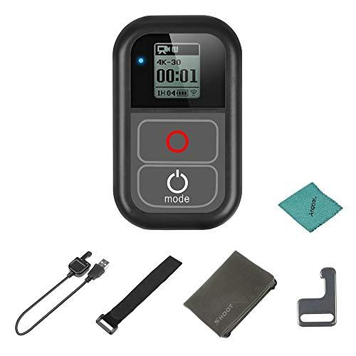 SHOOT XTGP183 WiFi afstandsbediening waterdicht voor GoPro Hero 7 6 5 4 3 + 3 voor GoPro Hero Action Camera's met oplaadkabel polsband metalen clip stoffen zak