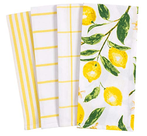 Home Pantry Lemons All Over Kitchen Dish Towel Set