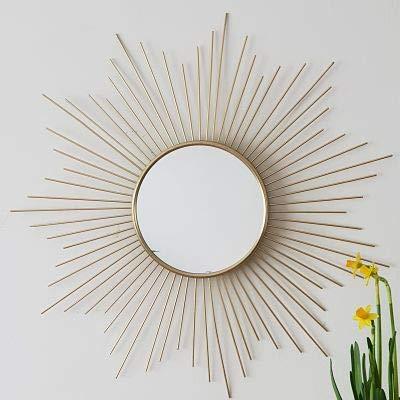 AUDACE DECO - Espejo de Pared con diseño de Sol (Metal Dorado), Color Dorado