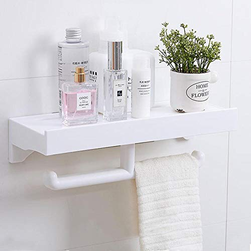 Lolypot Duschablage Duschregal Duschekorb Dusch Regal Rack ohne Bohren Selbstklebend Badregal Badezimmerablage Duschaufbewahrung Shower Caddy Küchenwürzhalter Kosmetikhalter mit Toilettenpapierhalter