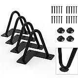 "Orgerphy 4"" Black Heavy-Duty Hairpin Coffee Table Legs (4PCS) | Diameter 3/8"" | with Screws and 4pcs Bonus Rubber Floor Protectors | Mid Century Modern Metal Legs Desk Legs Furniture Legs for DIYers"