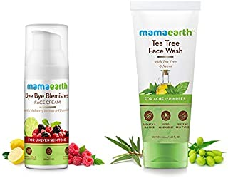Mamaearth Bye Bye Blemishes For Pigmentation, Sun Damage & Spots Correction + Tea Tree Face Wash (Combo Pack of 2)