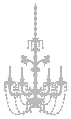 Baroque Chandelier Wall Decal (Silver, 24