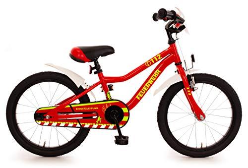 Feuerwehr Feuerwehr 18 Kinderrad MTB mit R�cktrittbremsnabe 18 Zoll Kinderfahrrad rot