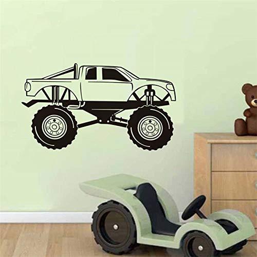 vrachtwagen vinyl muursticker afneembare sportwagen auto kunststicker jongen slaapkamer watervaste lijm muursticker 33x59 cm