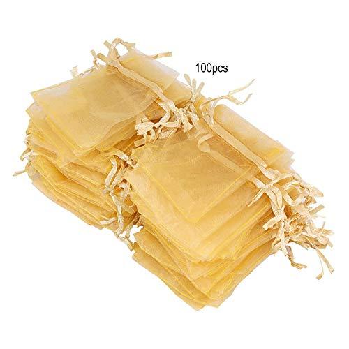 Cafopgrill Organza zakjes met trekkoord, voor bruiloft, cadeauzakje, voor sieraden, lippenstift, koekjes, snoep, opbergtas