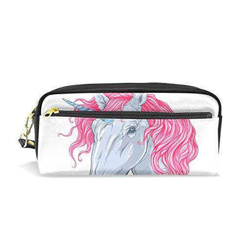 Trousse Grande contenance Holders mignon Licorne Rose Cheveux Pen papeterie Pouch Sac avec fermeture à glissière Maquillage