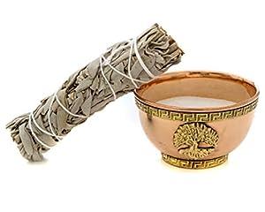 Alternative Imagination Tree of Life Copper Offering Bowl Kit