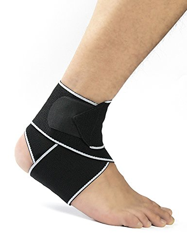 Lareinae Breathable Ankle Support Compression Brace with Adjustable Strap, Great for Runners, Ankle Sprain, and Swelling and Plantar Fasciitis, Instant Pain Relief, Suitable for Men&Women