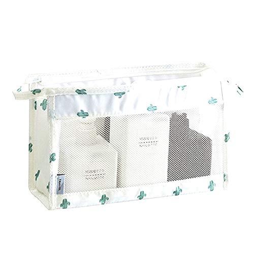 Sac étanche Maille sergé Organisateur de Toilette Trousse de Toilette Suspendu Voyage Kit pour Salle de Bains Douche (Cactus)