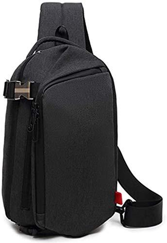 Men Chest Bag, Crossbody Shoulder Messenger Bag Inclined Shoulder Bag Satchel Single Shoulder Bag Creative New Large Capacity Chest Bag Men'S Shoulder Messenger Bag Casual Fashion Outdoor-B