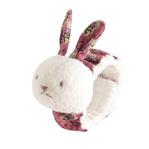 Liuying Baby Bell Muñequera Accesorios para bebés recién Nacidos Bell Sonajero de muñeca Relajante Conejo