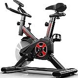 Shhjjpy Cardio Bicicletta Spinning Bike Professionale per Casa Bici da Spinbike Cyclette Fitness Palestra Workout, Regolazione del Sellino & Manubrio, Ottimo per Un Allenamento di Tipo Casalingo,Nero