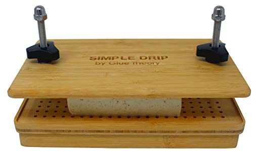 Bamboo Simple Drip Tofu Press – Includes a Built in Tofu Strainer and Attachable Drip Tray. Easily Remove Water from Tofu Block.